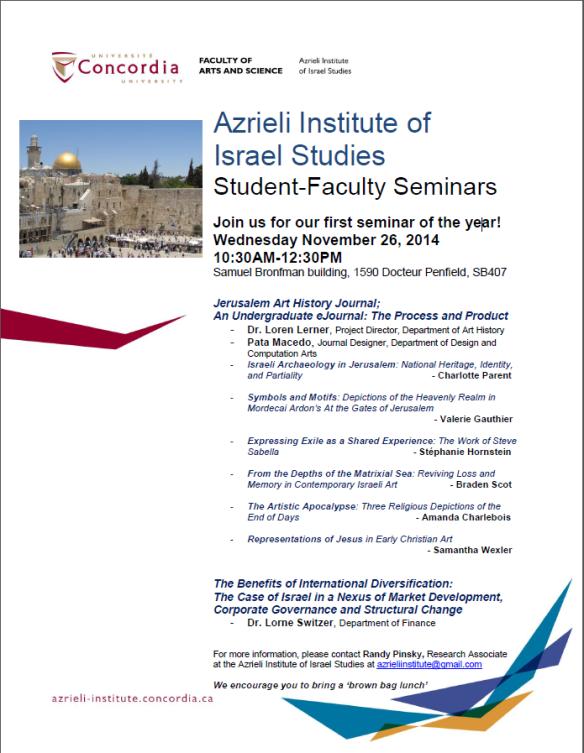 poster for November seminar